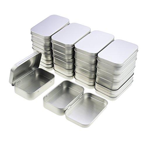 LJY rechteckig leer Scharnier aus Metall Dosen Behältern Basic Necessities Home Aufbewahrung Organizer Mini Box Set, 95 x 62 x 20 mm