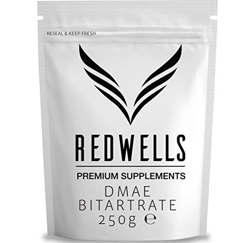 DMAE Bitartrat Powder REDWELLS Cognitive Enhancer Vegan - 250g Packung