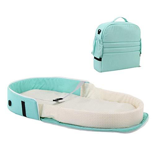 Hankyky tragbare Bassinet Tasche Reisebett für Baby | Faltbare Baby Bett Reise Indoor Bett Rucksack Bett | Atmungsaktive Säugling