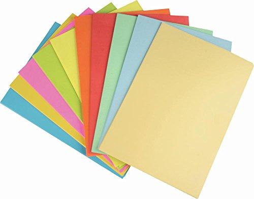 100 Blatt farbiges Druckerpapier / 10 verschiedene pastell,neon,intensiv Farben