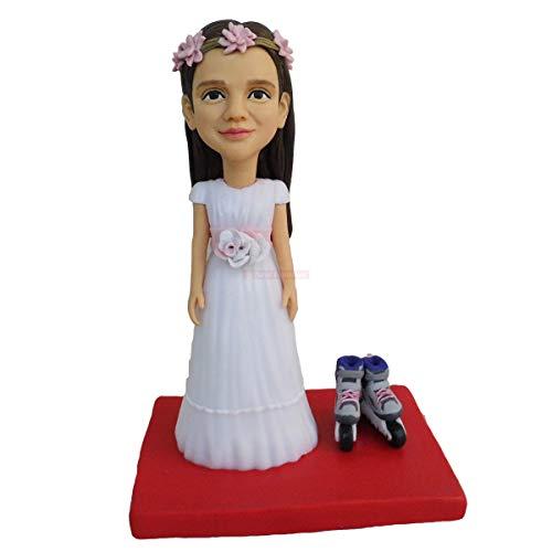 Puppenhaus Miniatur Mädchen Rollschuh Skulptur Wohnkultur Miniatur Figur Geburtstag Gunst Kuchen Topper Dekorationen Statue