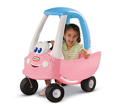 Little Tikes Princess Cozy Coupe - 30th Anniversary White/Blue/Pink, 29.5 x 16.5 x 33.5 inches