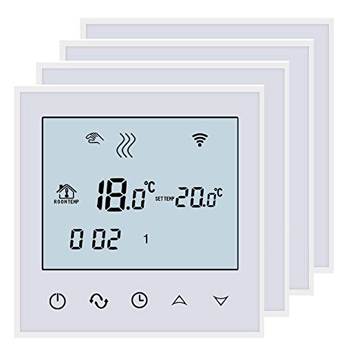 BEOK tds21wifi-ep Raumthermostat Thermostat Digital programmierbar Fußbodenheizung Elektrische Heizung Kabelloser Temperatur Controller