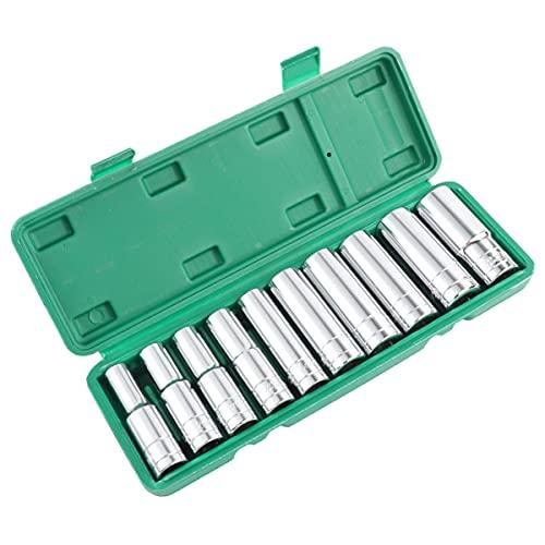 VILLCASE 10 Piezas Conjunto de Herramientas de Mecánica de Conducción Llave de Enchufe Hexagonal Juego de Reparación de Automóviles Profesional Herramienta de Reparación de Coche