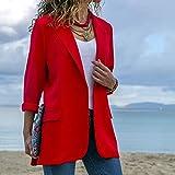 QUNLIANYI Abendkleid Abiballkleid Damen Jacken und Mäntel Slim Fit Frauen Formelle Jacken Büroarbeit Damenmantel L.