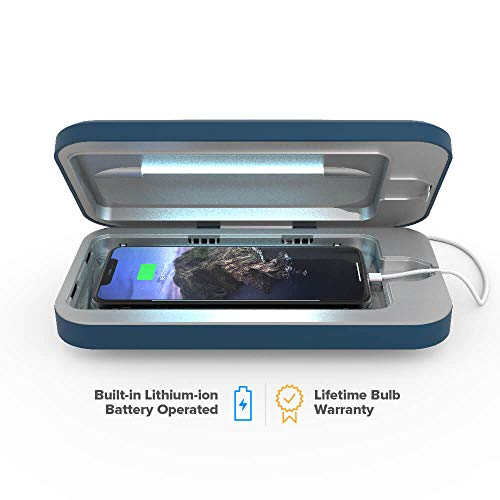PhoneSoap Go Battery-Powered Smartphone Sanitizer & Portable Charger   Patented & Clinically Proven UV Light Disinfector   (Indigo)