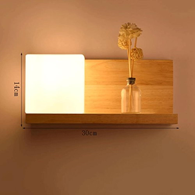 Great St. D G F Massivholz Wandleuchte LED Schlafzimmer Nachttischlampe Leselampe E27 Wohnzimmer Flur Dekoration Lagerung Halterung Licht (gre   A)