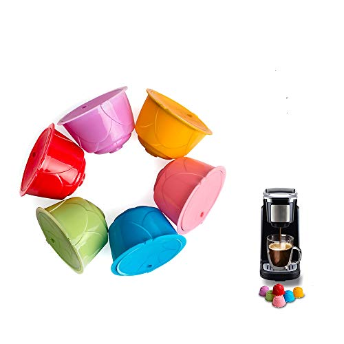 Nullnet Filtro de café Reutilizable, Colorida cápsula de café Recargable, Universal, Compatible con café, Filtro para Tazas, para Dolce Gusto, gotero de café Reutilizable