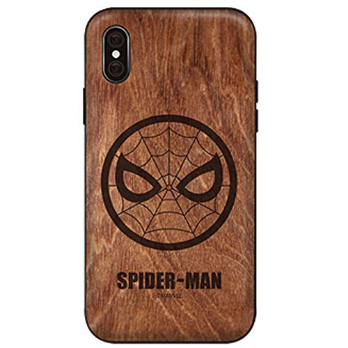 Marvel Avengers/Wood Pattern/Mirror Card Coque pour Apple iPhone Series iPhone 8 Plus / 7 Plus Spider Man