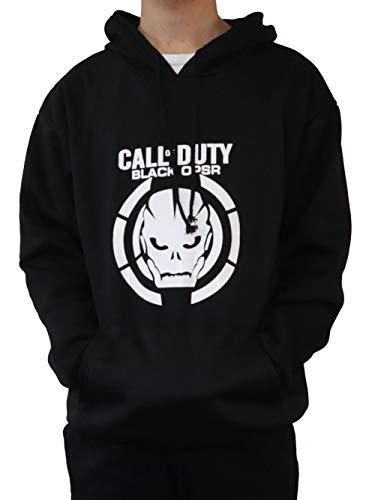 Moniku Call Duty III Skull Logo Mens Hoodie Cosplay Costume (Large) Black