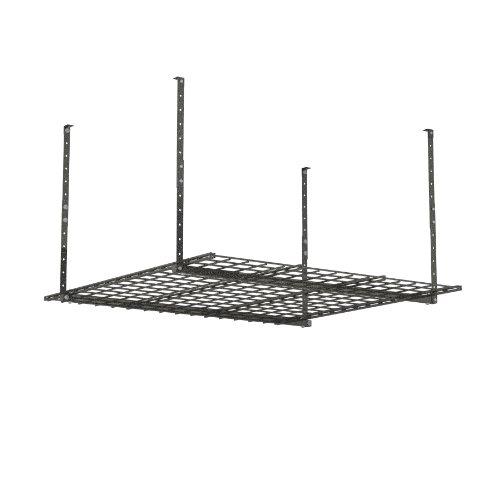 HyLoft 00625 45-Inch by 45-Inch Overhead Storage System, Ceiling Mount Garage Organization Rack, Hammertone