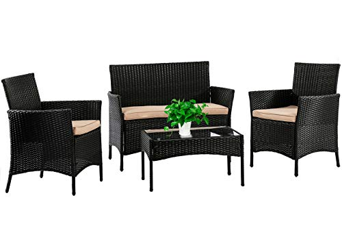 Patio Furniture Set 4 Piece Outd...