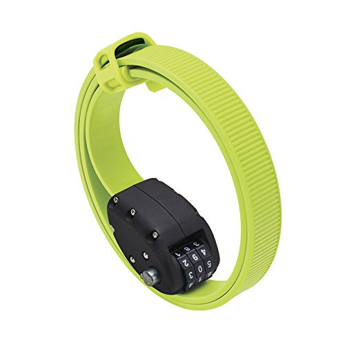 OTTOLOCK(オットロック) Cinch Steel & Kevlar Combination Lightweight Lock - Flash Green Size: 76cm(30 Inch) 並行輸入品