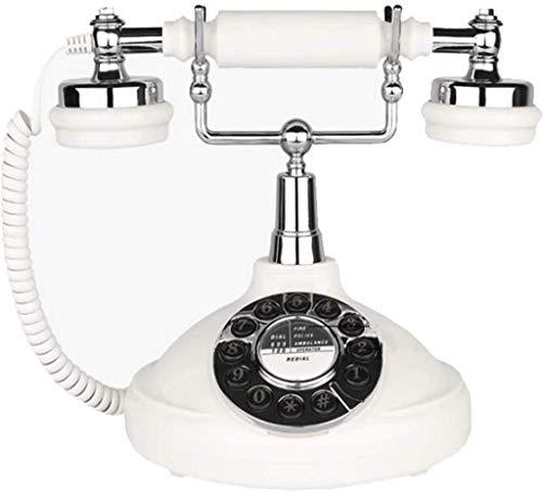 AWAING Telefonos Antiguos Vintage Teléfono Antiguo con Cable Digital Vintage Teléfono clásico Europeo Retro Fijo