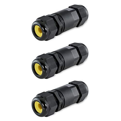 3 Stück SSC-LUXon® wCable Kabelverbinder Wasserdicht IP68 5-polig - Verbindungsmuffe für Erdkabel mit Ø 4-14 mm 24A bis 450V