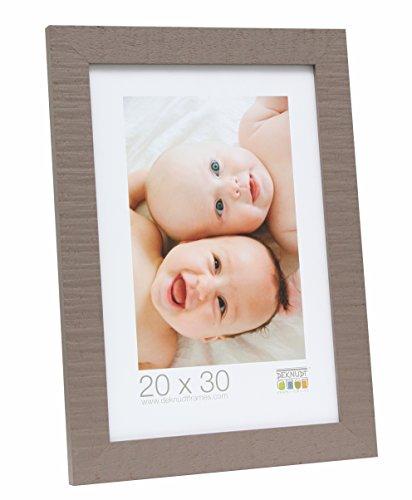 Deknudt Frames Bilderrahmen mit Rückwand aus Karton Farbe: Taupe, Größe (Bild): 45 cm H x 30 cm B