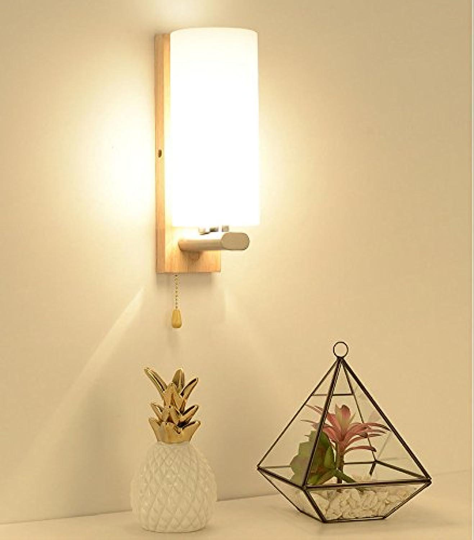 Wlxsx Nordic Modernen Minimalistischen Kreative Wand Lampe Amerikanische Wohnzimmer Nachttischlampe Treppe Massivholz Wand Wand Lampe