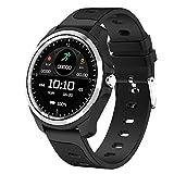 Sport Smart Watch Chiamata Assistente vocale Cardiofrequenzimetro impermeabile Ossigeno nel sangue Fitness Tracker Smartwatch, Nero universale