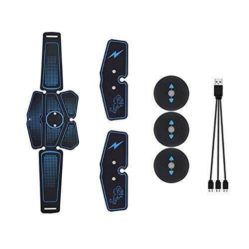 Vococal Elettrostimolatore Muscolare, Elettrostimolatore Addominali, EMS Stimolatore Addominale per Addominali e Braccio, 6 modalità e 10 Livelli di Intensità, USB Ricaricabile