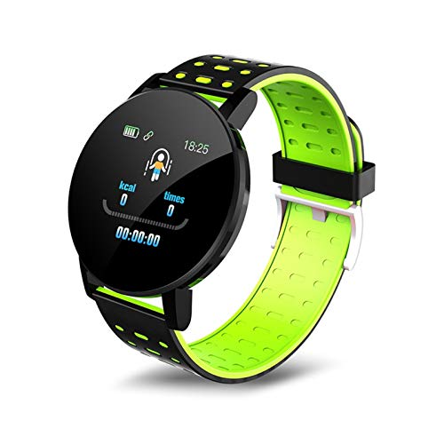 LXF JIAJU Bluetooth Smart Watch Hombres Mujeres Presión Arterial SmartWatch Sports Wrist Watch Whatsapp Tracker para Android iOS SmartWatch (Color : Green)