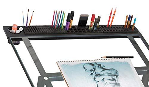 Studio Designs Art Plateau, métal, Charbon de Bois, Noir, 107 x 16.5 x 10 cm