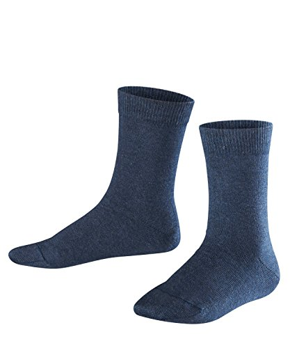 FALKE Kinder Socken Family - 94prozent Baumwolle, 1 Paar, Blau (Navy Blue Melange 6490), Größe: 35-38