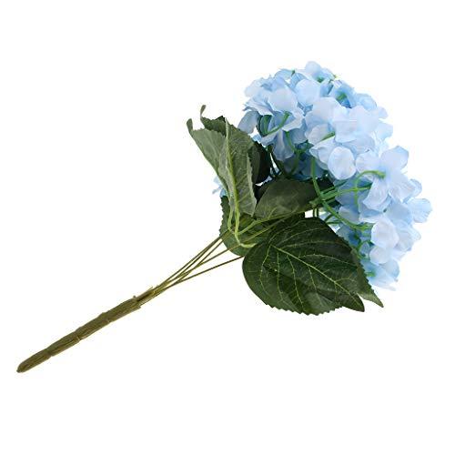 Baoblaze Artificielle Hortensia en Soie Bouquet de Fleurs Maison Jardin Décoration de Table Saint Valentin - Bleu