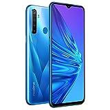 Realme 5 16,5 cm 128 Go de RAM (GSM seulement, sans CDMA) Version internationale débloquée en usine – Sans garantie (Bleu cristal)