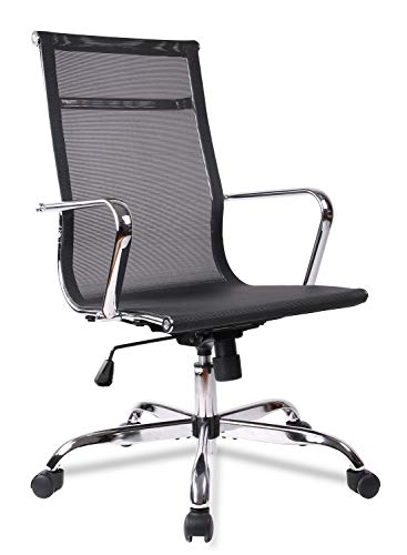 Office Chair, Desk Chair, Mesh Computer Task Chairs High Back with Armrests Swivel Casters for Home Office Conference
