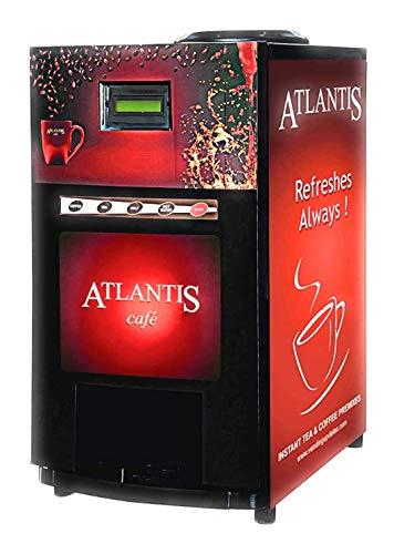Atlantis Cafe Mini Tea and Coffee Vending Machine 2 Lane + Free Sample Tea & Coffee Premix