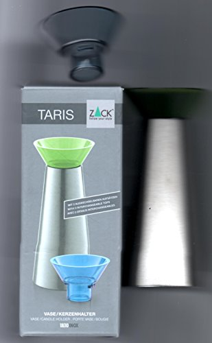 ZACK vaas/kandelaar TARIS 40677GR, grijs en rood