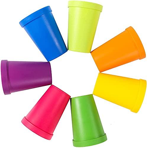 Tazza di plastica, 226,8 g, bicchieri impilabili, bicchieri per bevande a casa, feste, eventi, matrimoni (7 pezzi)
