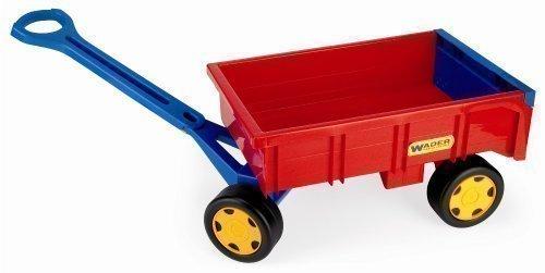 Wader Handwagen Traktor Hänger Anhänger für Gigant Truck Kinder Spielzeug rot