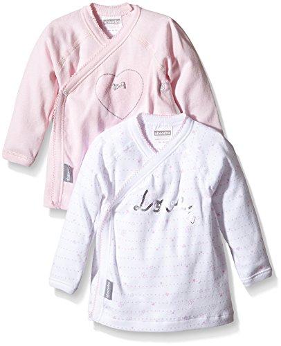Groupe Zannier International Absorba Absorba Underwear Baby-Mädchen Love PINK Unterhemd, Rosa (Eglantine 31), 62 (Herstellergröße: 3M) (2er Pack)