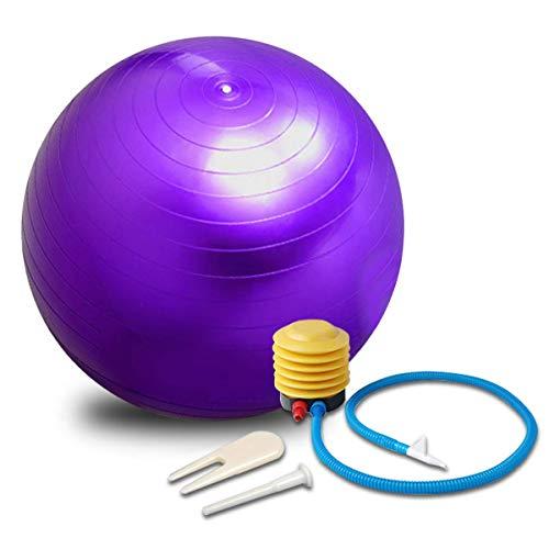 Vineco Gymnastikbälle für Fitness, Platzen und rutschfest, Gymnastikball, Durchmesser 55 cm, Violett