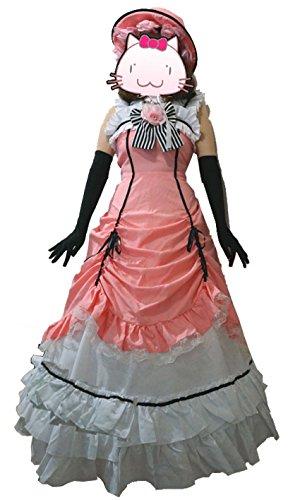 fantasycart Kuroshitsuji Black Butler Ciel Phantomhive Cosplay Costume Set Pink (M)