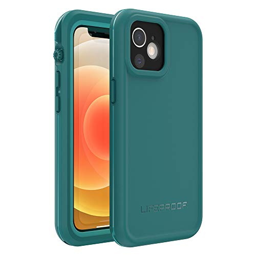 LifeProof FRE Series Waterproof Case for iPhone 12 Mini - Free Diver (Ocean Depths/Peacock Blue), 77-65890