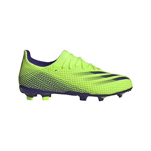 adidas X GHOSTED.3 FG J, Zapatillas de ftbol, Signal Green Energy Ink F17 Signal Green, 38 2/3 EU