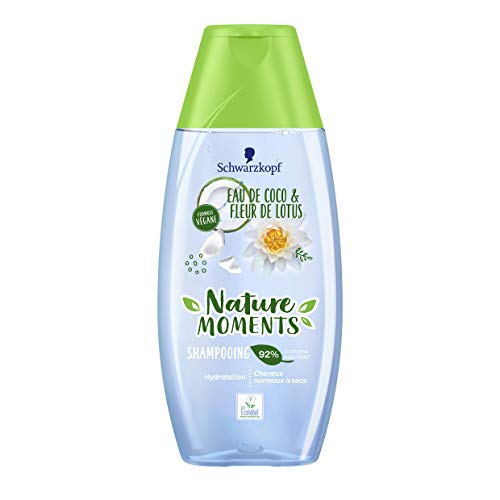 Nature Moments Shampooing Hydratation Cheveux Normaux à Secs Coco & Lotus 250 ml