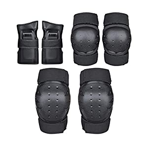 Opeer Adults Knee Pad Elbow Pads with Wrist Guards Protective Gear Set, for Roller Skates Cycling Bike Skateboard Inline Skatings Scooter Riding Sports