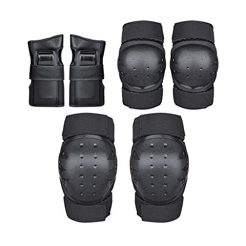 Knee Pad Elbow Pads 6 in 1 Protective Gear with Wrist Guards for Men/Women, Best for Rollerblade Roller Skates Cycling BMX Bike Skateboard Inline Skatings Scooter Riding Sports