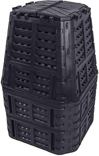 Komposter 1000L aus Kunststoff, Schnellkomposter mit Belüftungssystem, modular steckbar, für ideale Zersetzung