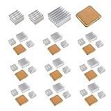 40PCS Raspberry Pi Heatsink Kit High Performance Aluminum Heatsink for Raspberry Pi B B+ 2 and 3, Heatsink Copper Pad Shims, with Thermal Conductive Adhesive Tape