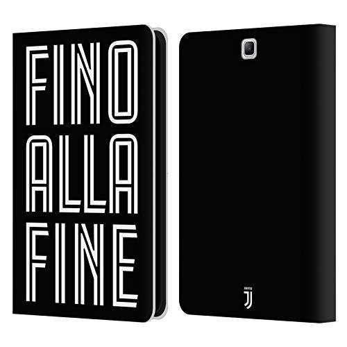Head Case Designs Oficial Juventus Football Club Fino Alla Fine Negro Tipo Carcasa de Cuero Tipo Libro Compatible con Samsung Galaxy Tab A 9.7