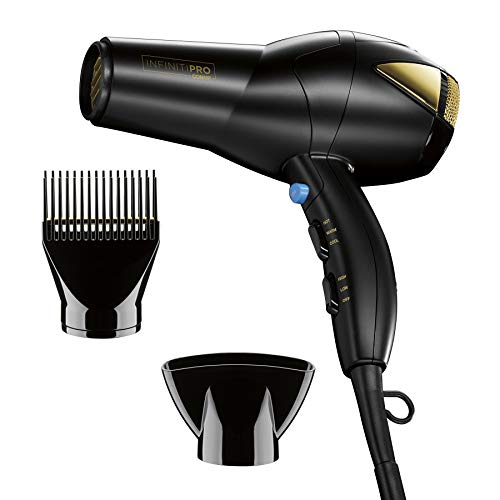 INFINITIPRO BY Conair 1875 Watt Salon Hair Dryer ~ Perfect Blow Dryer for Coarse, Thick, Wavy, Curly, and/or Frizzy Hair