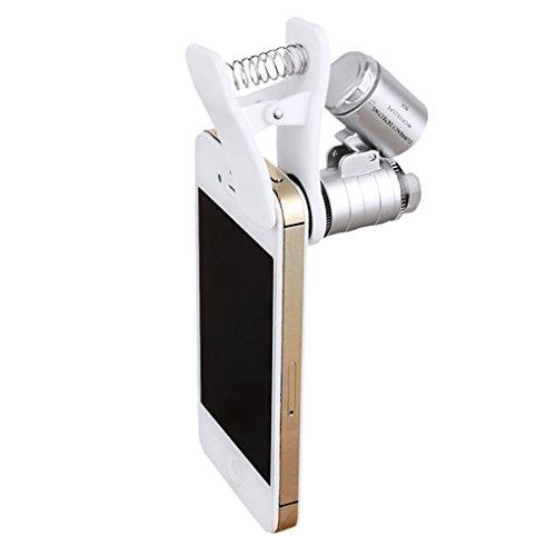 LY Neu Handlupe 60 Fache Handy Phone Tragbare Lupe mini Mikroskop Vergrößerung Vergrößerungsglas Lupe mit Led Beleuchtung UV Licht