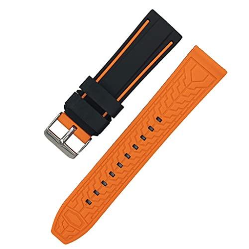Livronic Ammortizzatore Sportivo in Silicone Morbido 20mm 22mm 24mm 26mm Tuffatore in Gomma Immersioni Impermeabile Uomini Sostituzione Braccialetto Braccialetto Cinturino Cinturino Accessori
