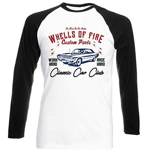 Teesandengines Men's Dodge Dart Swinger Convertible 1970 car Club go Fast or go Home Black Long Sleeved T-Shirt Size XLarge