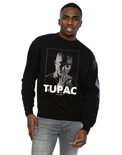 2Pac Herren Tupac Shakur Praying Sweatshirt Small Schwarz