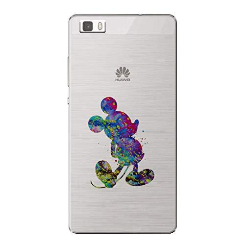 I-CHOOSE LIMITED Arte de Fan Funda/Cubierta del Teléfono para Huawei P8 Lite/Gel/TPU/Mickey Mouse
